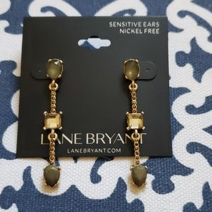 NWT Olive & Gold Earrings